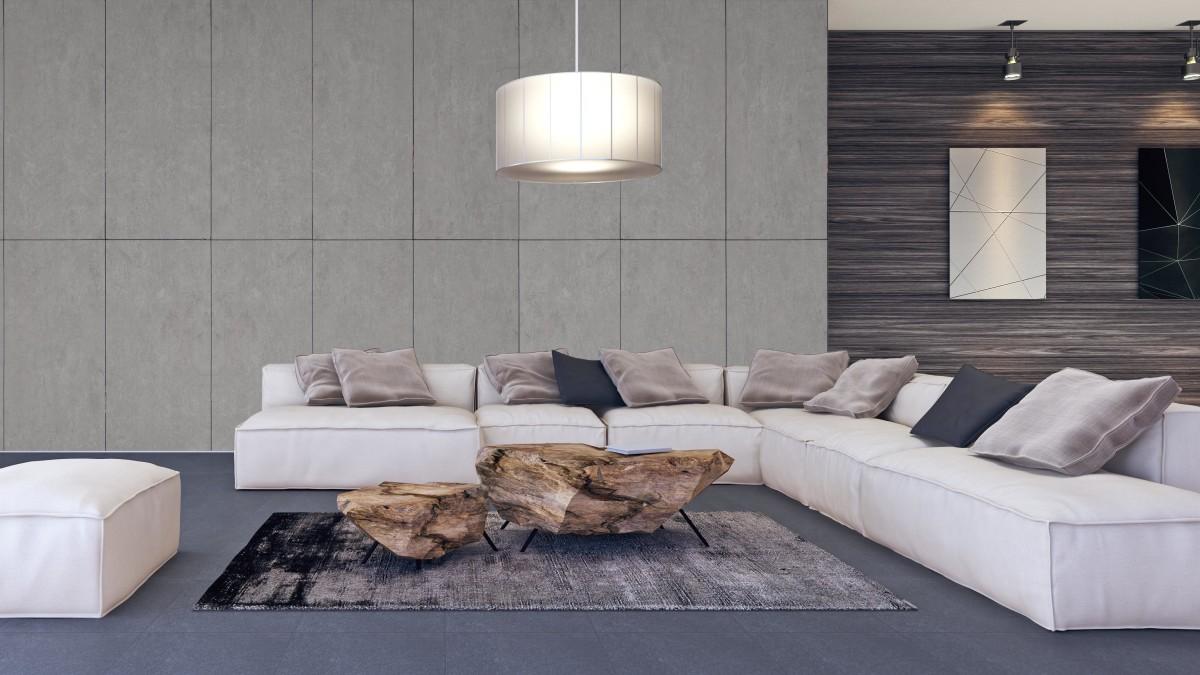 Beton und Stein bilden die perfekte Kombination aus Industrial Living und Minimalismus