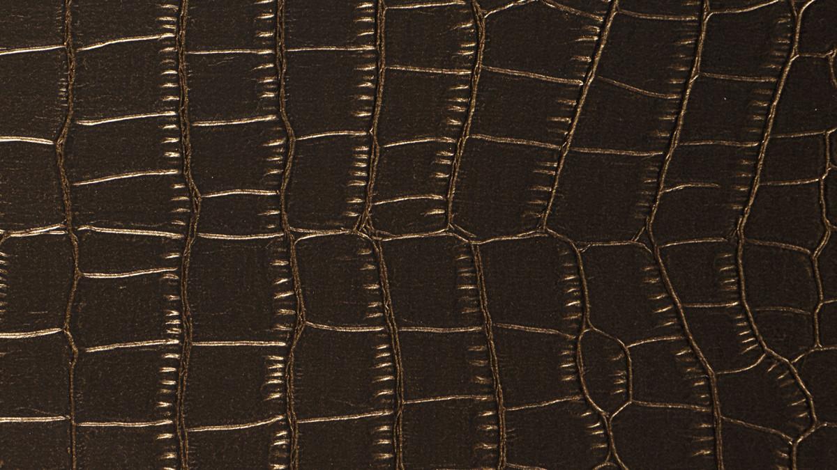 Krokodilleder dunkelbraun